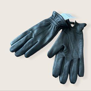Nordstrom men's shop leather cashmere lined gloves